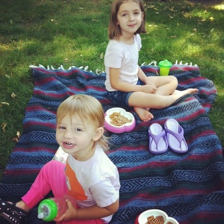 We've had picnics in the grass out back.