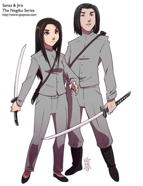 Sanaa and Jiro ready for battle.