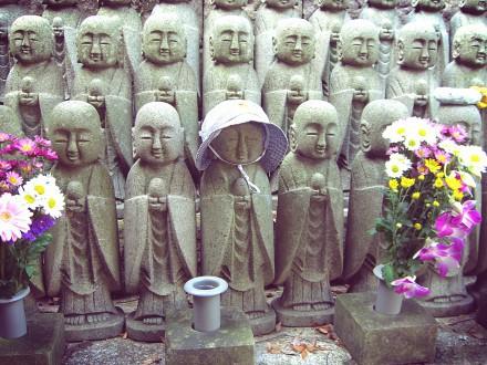 Jizo all lined up